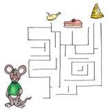 El tercer juego, el laberinto del ratón Fotos de archivo libres de regalías
