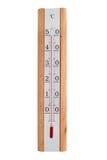 El termómetro casero en un fondo blanco muestra 50 grados foto de archivo
