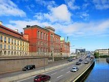 El terraplén de Estocolmo La bahía del mar Foto de archivo libre de regalías