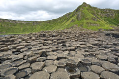 El terraplén del gigante - Irlanda del Norte, el condado de Antrim Foto de archivo