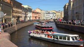 El terraplén del río de Moika St Petersburg 4K metrajes