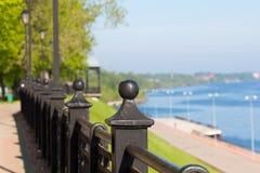 El terraplén del río Volga Imágenes de archivo libres de regalías