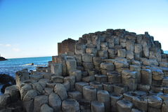 el terraplén Irlanda del Norte de los diablos Imagen de archivo libre de regalías