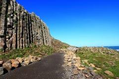 El terraplén del gigante, Irlanda del Norte Imágenes de archivo libres de regalías