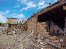 El terremoto catastrófico, Ecuador, Suramérica imagenes de archivo