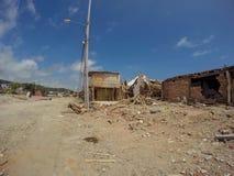 2016 el terremoto de Ecuador, Suramérica Foto de archivo libre de regalías