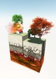 El terremoto y 3d conectan a tierra la sección Imágenes de archivo libres de regalías