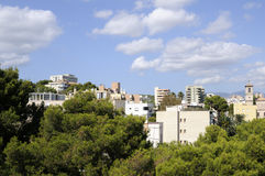EL Terreno de district dans Palma photographie stock