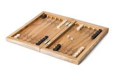 El terreno de juego del backgammon y corta en cuadritos Imagen de archivo libre de regalías