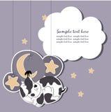 El terrier galés ayuna dormido Stock de ilustración