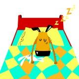El terrier galés ayuna dormido Ejemplo de la historieta del vector con el perro lindo libre illustration