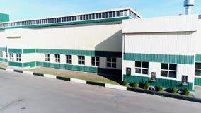 El territorio de la fábrica de una altura almacen de metraje de vídeo
