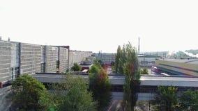 El territorio de la fábrica de una altura almacen de video