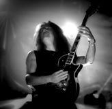 El testamento vive en banda de heavy metal pesada del movimiento de piernas del concierto 2016 Fotografía de archivo