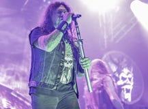 El testamento vive en banda de heavy metal pesada del movimiento de piernas del concierto 2016 Imágenes de archivo libres de regalías