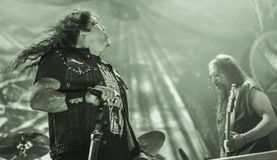 El testamento vive en banda de heavy metal pesada del movimiento de piernas del concierto 2016 Fotos de archivo