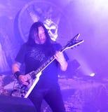 El testamento vive en banda de heavy metal pesada del movimiento de piernas del concierto 2016 Fotografía de archivo libre de regalías