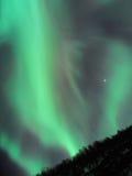 El testigo ideal del tiempo la aurora boreal imagenes de archivo