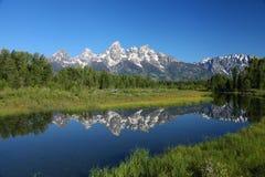 El Tetons magnífico en Wyoming fotos de archivo