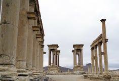 El tetra pilón en el Palmyra, Siria Imagenes de archivo