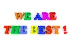 el texto colorido 3d somos el mejor en el fondo blanco Imágenes de archivo libres de regalías