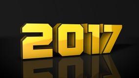 El texto 3d del oro 2017 rinde Stock de ilustración