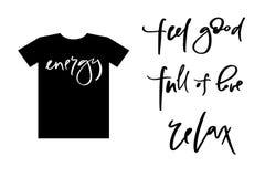 El texto de la caligrafía para las mujeres de la camiseta diseña, tienda femenina de Internet Curve las letras para la colección  foto de archivo