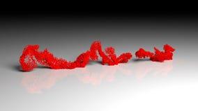 El texto de la crisis económica disuelve en partículas y desaparece ilustración del vector