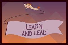 El texto de la escritura aprende y lleva El significado del concepto mejora las habilidades y el knowleadge para caber para la di stock de ilustración