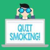 El texto de la escritura de la palabra abandonó el fumar E libre illustration