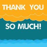 El texto de la escritura de la palabra le agradece tanto Concepto del negocio para la expresión de los saludos de la gratitud del libre illustration