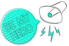 El texto de la escritura sea mi héroe Petición del significado del concepto alguien de conseguir a algunos esfuerzos de las accio libre illustration