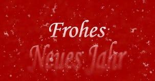 El texto de la Feliz Año Nuevo en alemán los neues Jahr de Frohes da vuelta al polvo Imagen de archivo libre de regalías