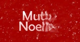El texto de la Feliz Navidad en turco Mutlu Noeller da vuelta para sacar el polvo del franco Imagen de archivo