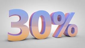el texto de la pendiente del 30% en el fondo blanco, 3d rinde Libre Illustration