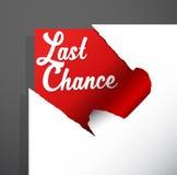 El texto del ` de la última oportunidad del ` destapó de esquina de papel rasgada stock de ilustración