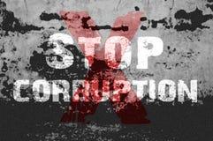 El texto para la corrupción en fondo del grunge Imagen de archivo libre de regalías