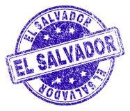 EL texturisé rayé SALVADOR Stamp Seal illustration libre de droits