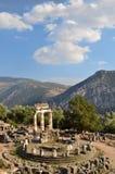 El Tholos en el santuario de Athena Pronaia imagenes de archivo