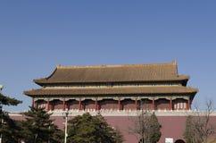 El Tiananmen o la puerta de la paz divina, es un monumento famoso en Pekín, la capital de China Fotos de archivo libres de regalías