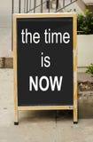 El tiempo ahora está Fotografía de archivo libre de regalías