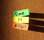 ¡El tiempo ahora está! imágenes de archivo libres de regalías