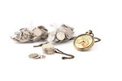 El tiempo ahorra el dinero Imagenes de archivo