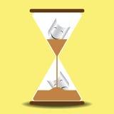 El tiempo cura concepto del vidrio de la arena Fotos de archivo