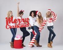 El tiempo de la Navidad está viniendo Imágenes de archivo libres de regalías