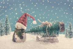 El tiempo de la Navidad está viniendo pronto Imagenes de archivo