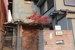 el tiempo de primavera en la calle de Kyoto Imagen de archivo
