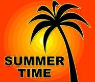 El tiempo de verano significa verano y calor felices Foto de archivo
