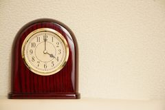 El tiempo es 4:00 Foto de archivo