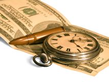 El tiempo es oro Imágenes de archivo libres de regalías